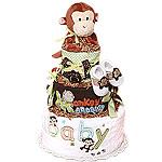 Baby Monkey Diaper Cake