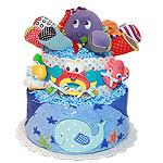Whale Fun Ocean Diaper Cake