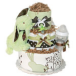 Bunny Meadow Diaper Cake