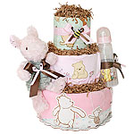 Classic Pooh Diaper Cake for a Girl