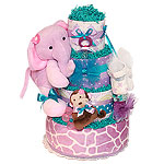 Cute Purple Elephant Diaper Cake