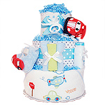 Vroom! Vroom! Red Car Diaper Cake