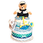 Captain Bear Diaper Cake