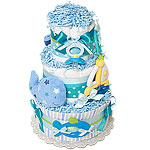 Sailboat and Whale Diaper Cake