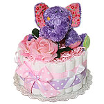 Little Purple Elephant Diaper Cake