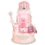 Sparkle Princess Diaper Cake