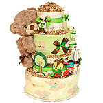 Cute Forest Bear Diaper Cake
