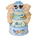 Boys and Their Toys Twins Diaper Cake