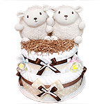 Little Sheep Twins Diaper Cake