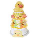 Cute Duck Neutral Diaper Cake