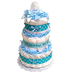 Blue It's A Boy Diaper Cake
