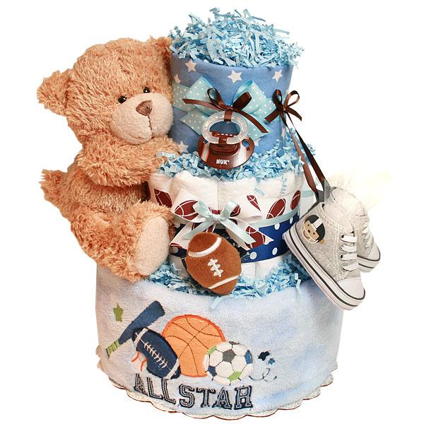 ddf300a283cbc Future All Star Football Diaper Cake - $112.00 : Diaper Cakes Mall ...