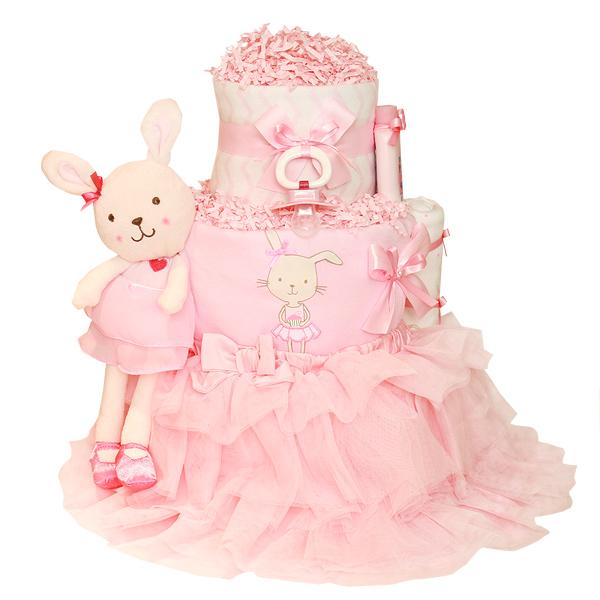 Little Ballerina Bunny Diaper Cake