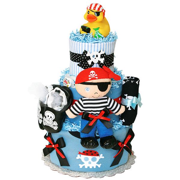 Ahoy! Pirate Diaper Cake for a Boy