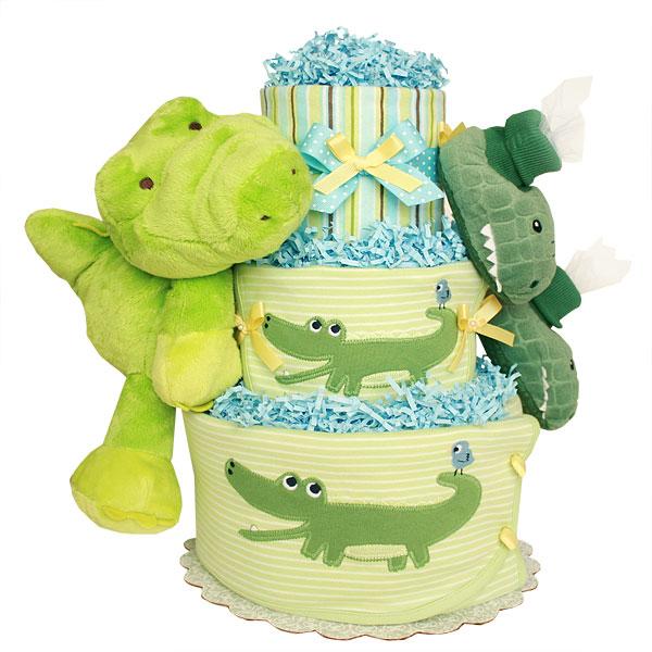 Alligator Diaper Cake