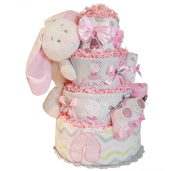 Dance Little Bunny Ballerina Diaper Cake