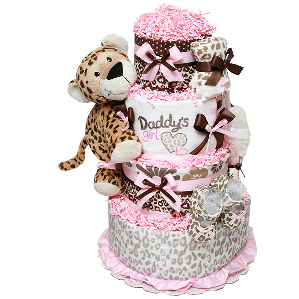 Daddy's Girl Leopard Diaper Cake