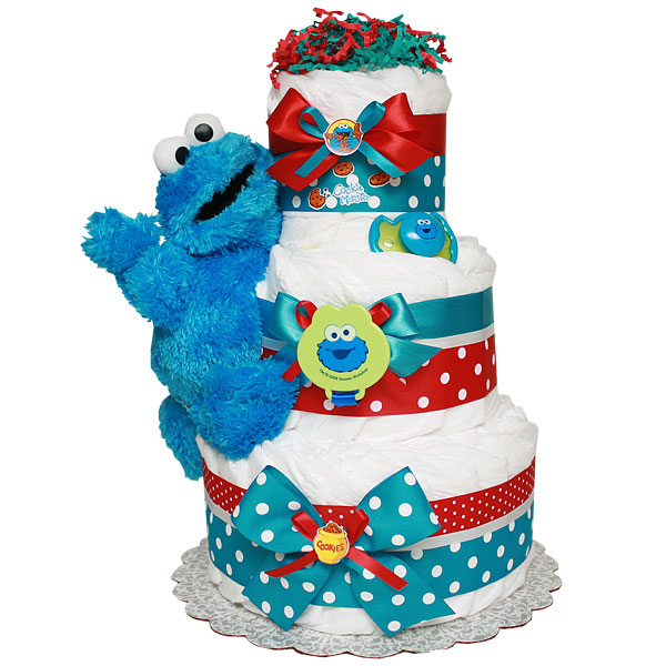 Decoration Cookie Monster Diaper Cake