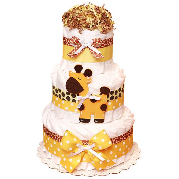 Jungle Giraffe Decoration Diaper Cake