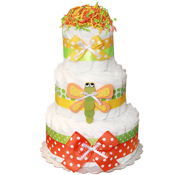Dragonfly Decoration Diaper Cake