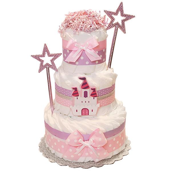 princess castle decoration diaper cake