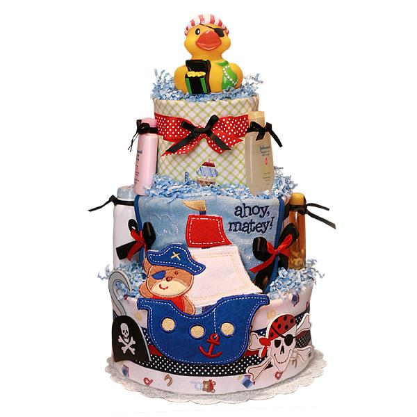 Ahoy Matey! Pirate Diaper Cake for a Boy