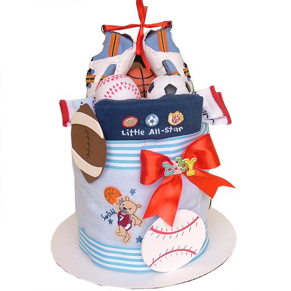 Little All Star Sport Bucket 6500 Diaper Cakes Mall Unique