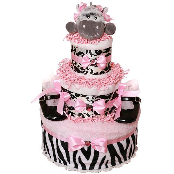 Pink Baby Zebra Diaper Cake 9700 Diaper Cakes Mall Unique