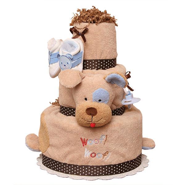 Woof Woof Puppy Diaper Cake