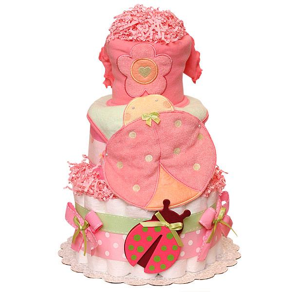 Baby LadyBug Diaper Cake