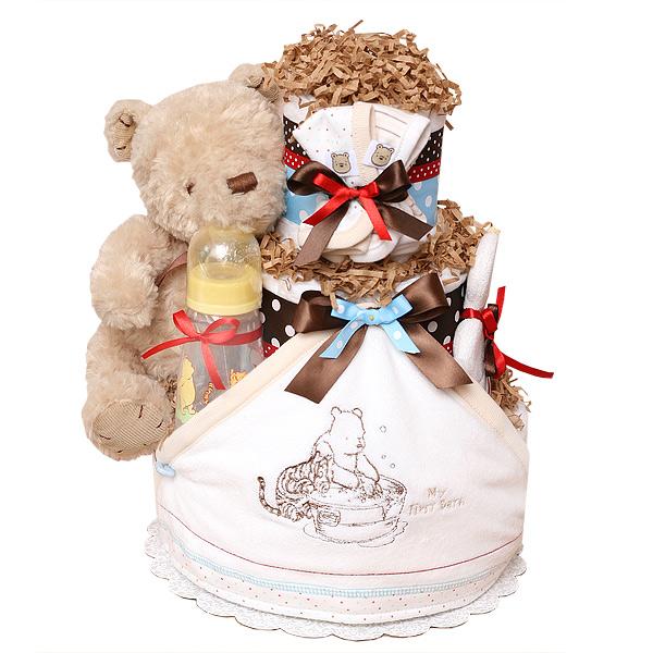 Classic Pooh My First Bath Diaper Cake
