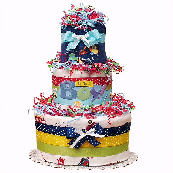 Daddy's Little Tough Guy Diaper Cake