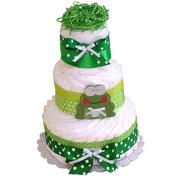 Frog Decoration Diaper Cake