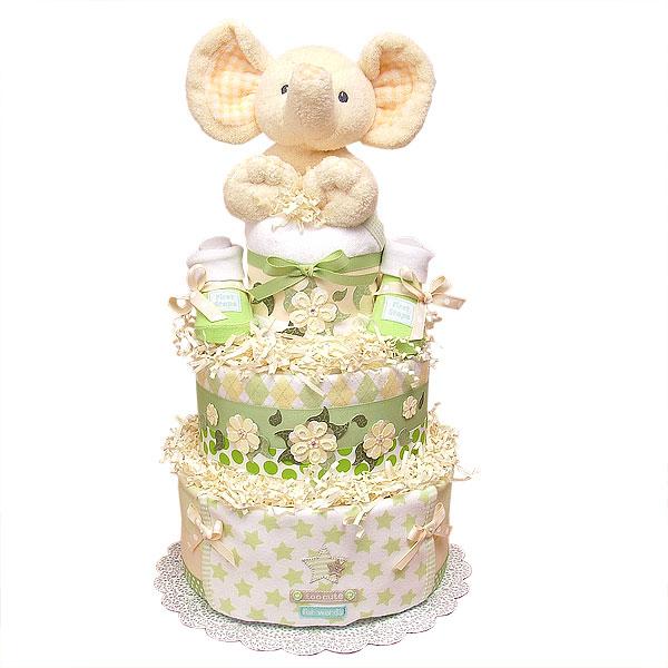 Flower Elephant Diaper Cake