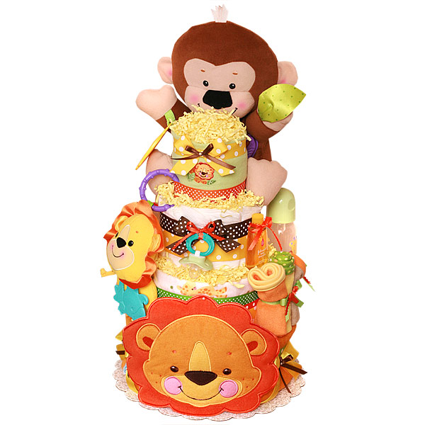 Fisher Price Jungle Animals  Diaper Cake
