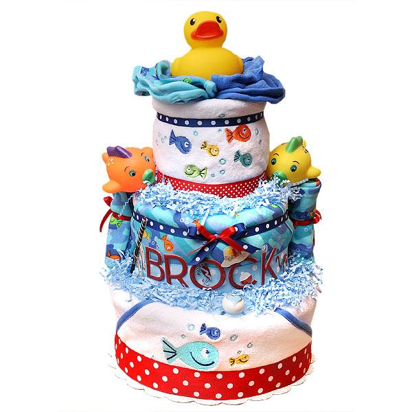 Fisherman Diaper Cake