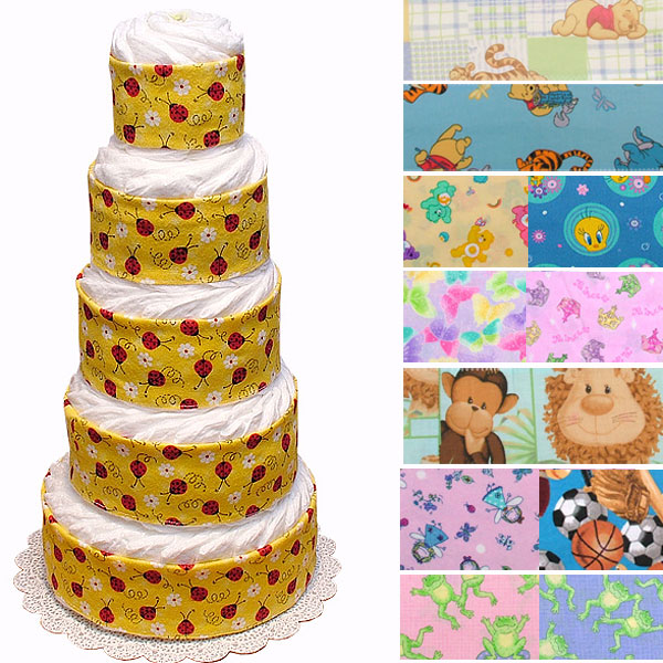 Custom Half-Way Decorated Diaper Cake