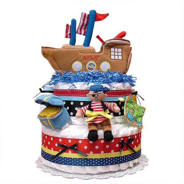 AHOY! Pirate Diaper Cake