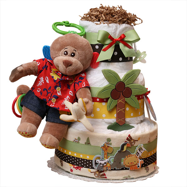 Play Time Monkey Diaper Cake
