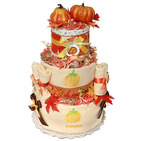 My Little Pumpkin Diaper Cake