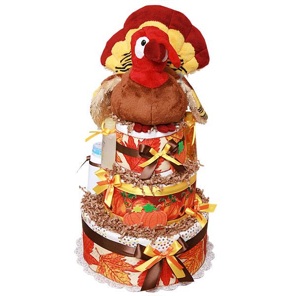 Fall Turkey Diaper Cake