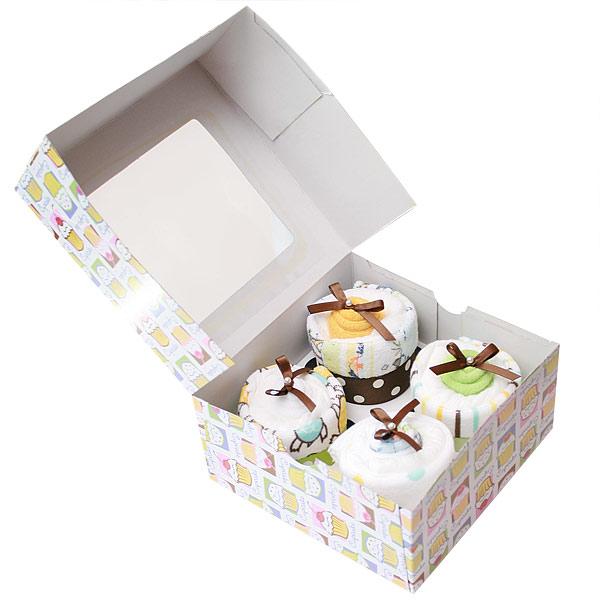 Four Washcloth Cupcakes