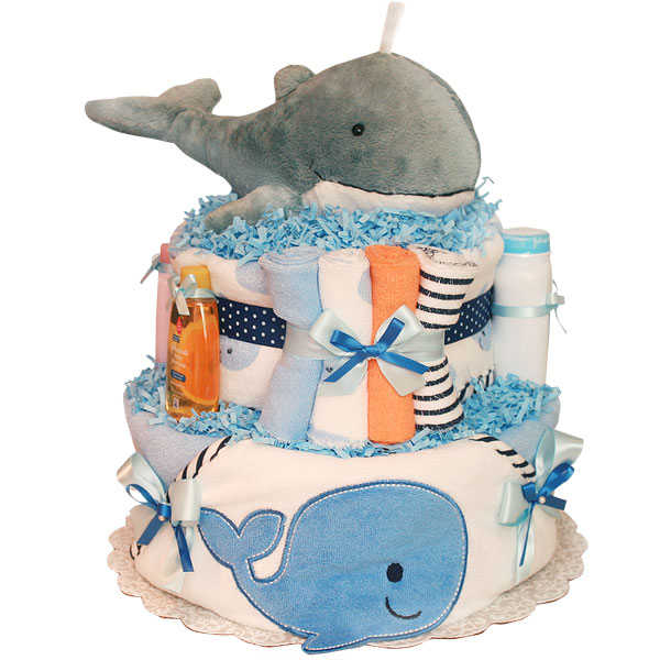 Grey Whale Diaper Cake
