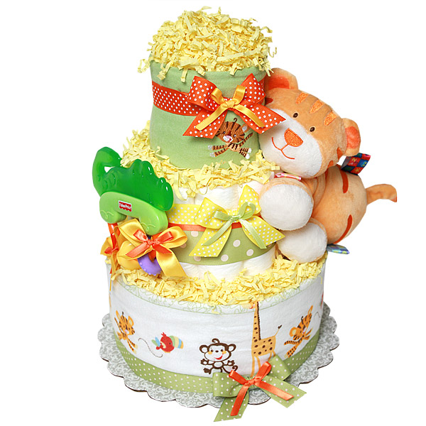 Fisher Price Jungle Tiger Diaper Cake