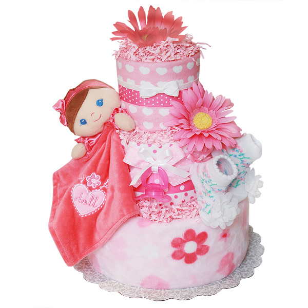 Sweet My First Baby Doll Diaper Cake