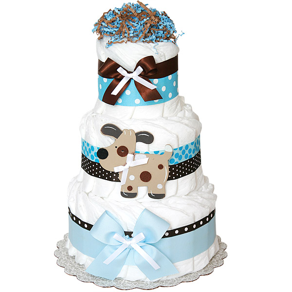 Fun Puppy Decoration Diaper Cake