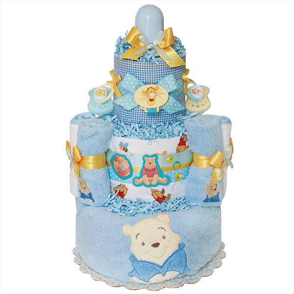 Winnie The Pooh Bath Diaper Cake For A Boy 11100 Diaper Cakes