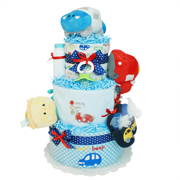 Ready! Set! Go! Cars Diaper Cake