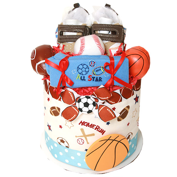 Little All Star Sport Bucket Diaper Cake