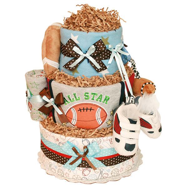 All Star Football Diaper Cake